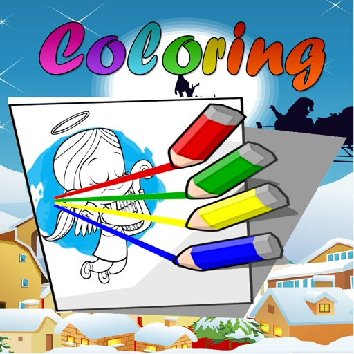 Paint Coloring Book for Little Angels iOS App