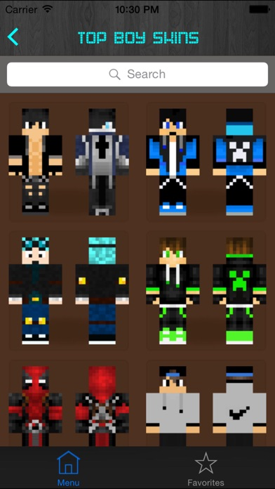 Screenshots of Boy Skins for Minecraft PE (Pocket Edition) - Free Skins App for MCPE PC for iPhone