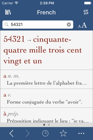French Dictionary and Thesaurus with Verbs screenshot 3