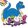 Dinosaur Coloring Book HD - Color and Paint Little Colorful Dinos for Kids