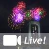 【夜景写真にフリックで花火・名場面をSNS投稿】ライブ!花火ドンパチ