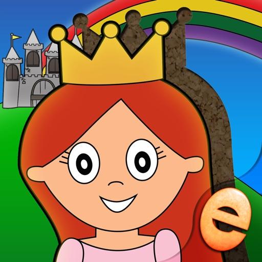 【儿童益智】公主游戏益智活动和童话拼图的孩子,女孩,和小仙女