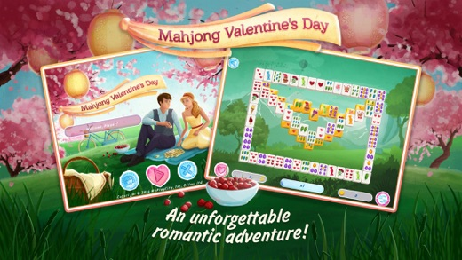 Iphone Screenshot 1   Valentine Mahjong