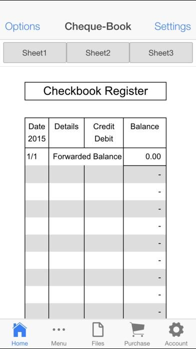 checkbook register app