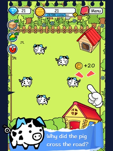Screenshots of Pig Evolution - Tap Coins of the Piggies Mutant Tapper & Clicker Game for iPad