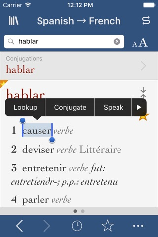 French-Spanish Translation Dictionary and Verbs screenshot 1