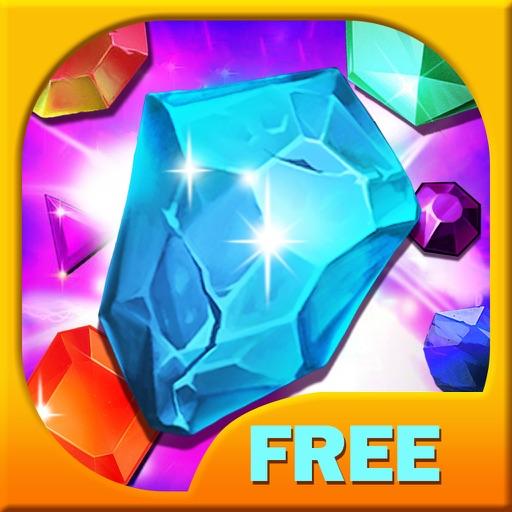 Jewels Match Crush Pop:A classic jewel match 3 time killer casual game