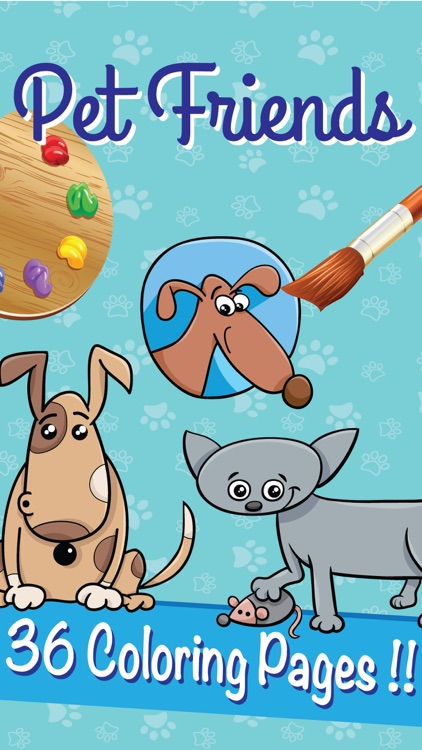 Dr. Pet Dog Cat Coloring Books : Sum Preschool - Education for Kid ...