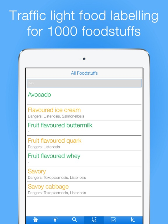 Pregnancy Food Guide PRO Screenshots