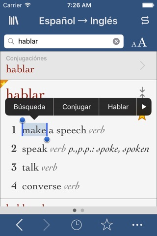Spanish-English Translation Dictionary and Verbs screenshot 1