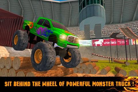 Extreme Monster Truck Stunt Racing 3D Full screenshot 1