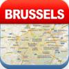 Brussels Offline Map - City Metro Airport
