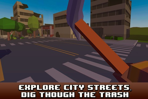Pixel City Survival Simulator 3D screenshot 2
