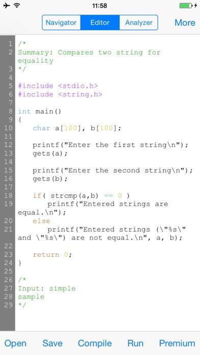 download CppCode - offline C/C++ IDE & Compiler appstore review