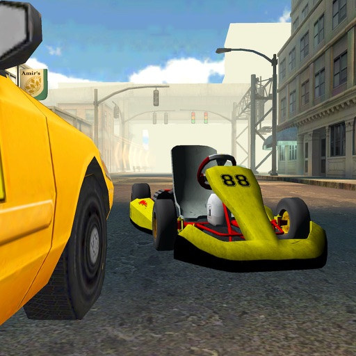 Go-kart City Racing - Outdoor Traffic Speed Karting Simulator Game PRO