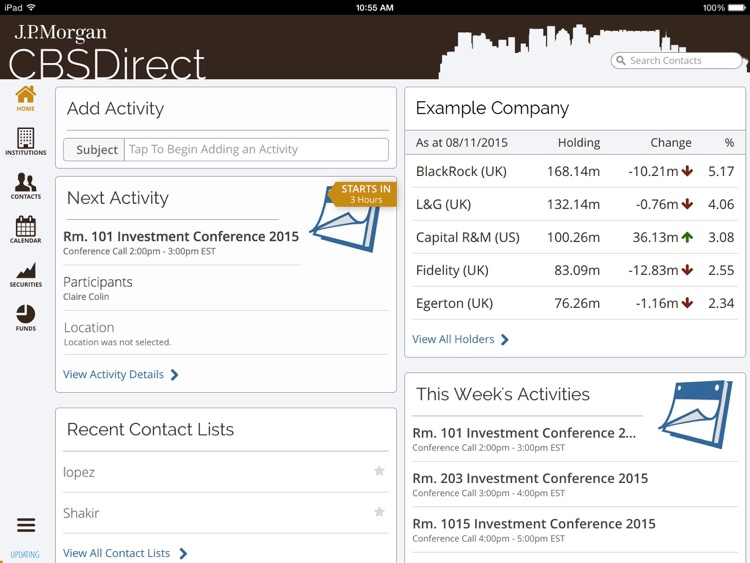 CBSDirect by J P  Morgan by J P  Morgan