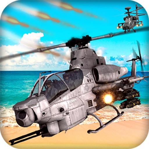 хели воздушный бой погони - боевой вертолет