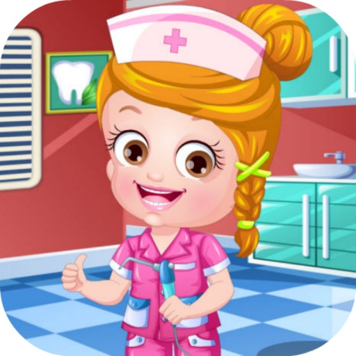 可爱宝贝牙医装—公主护士装扮,儿童医生