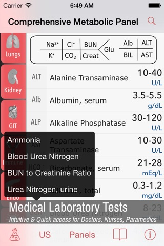 LabGear - Medical Lab Tests and Reference screenshot 1