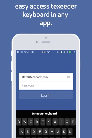 Texeeder - with custom keyboard ~ Type Less Get More screenshot 3