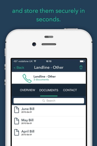 No More Filing - Scan Documents, Receipts, Bills and Stay Organised screenshot 2