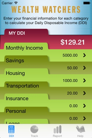 Wealth Watchers Budget Tracker screenshot 2