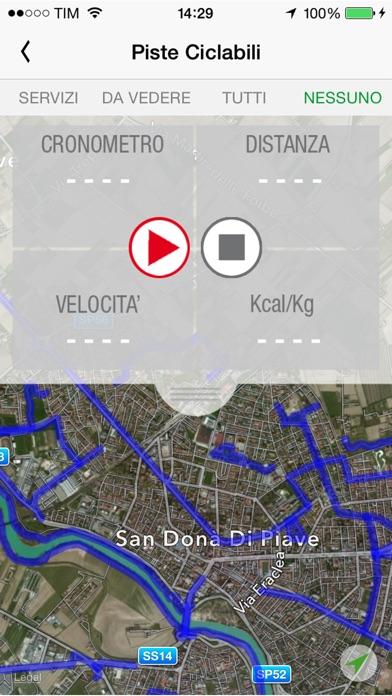 Screenshot of Venezia Orientale in Bici4