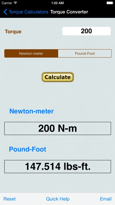 torque calculator units converter on the app store. Black Bedroom Furniture Sets. Home Design Ideas