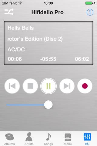 Hifidelio App screenshot 2