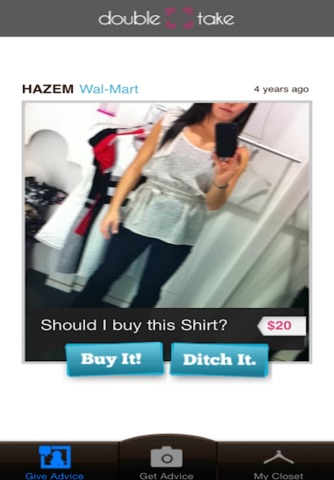 Double Take - Social shopping for fashions screenshot 1