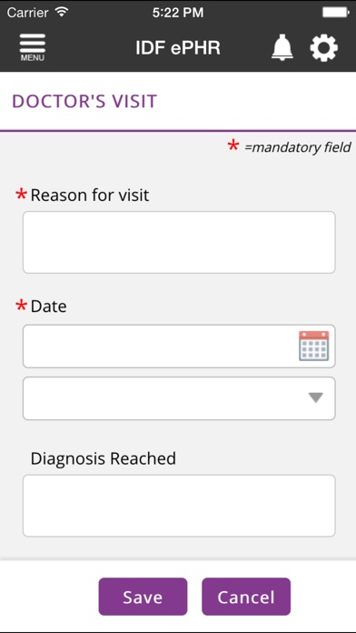 download IDF ePHR apps 0