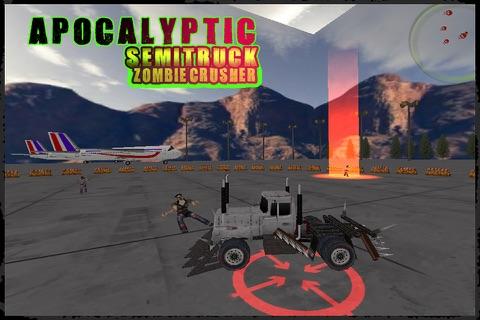 Apocalyptic SemiTruck Zombie Crusher screenshot 4