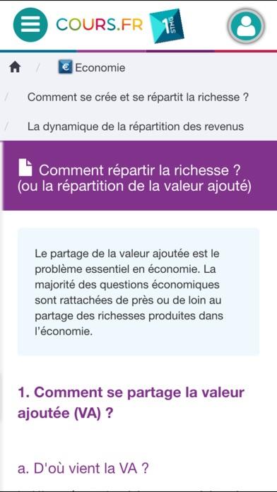 Screenshot for Cours.fr 1STMG in France App Store