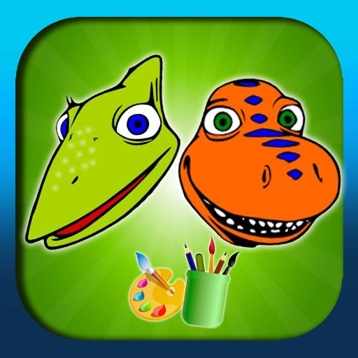 Coloring Book for Dino Train (unofficial) iOS App