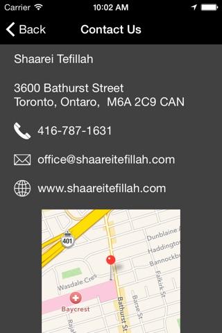 Shaarei Tefillah Congregation screenshot 2