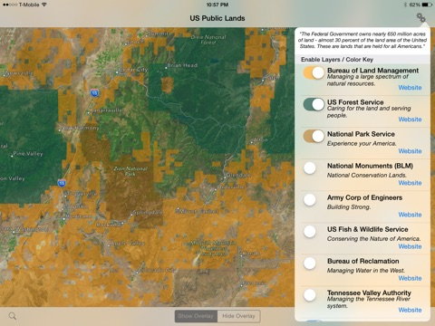 US Public Lands On The App Store - Map of us forest service labs