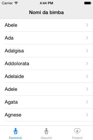 Nomi per tuo bambino screenshot 3