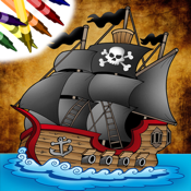 Pirate Coloring Book Free icon