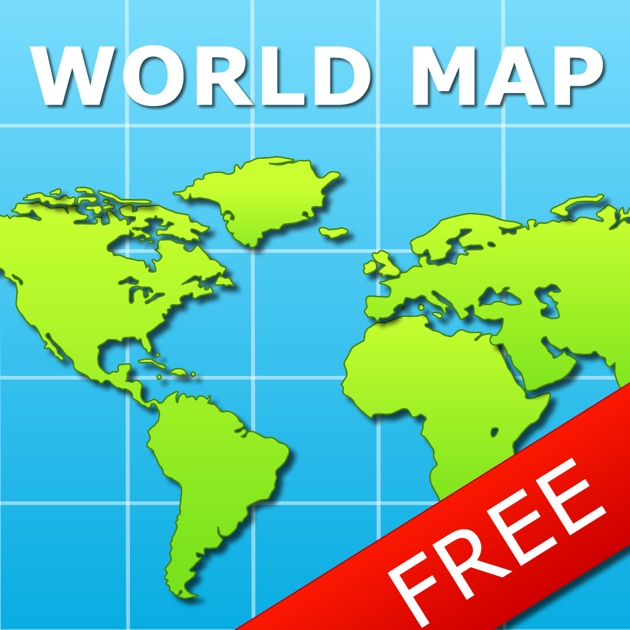 World Map For IPad FREE On The App Store - Map of worlf
