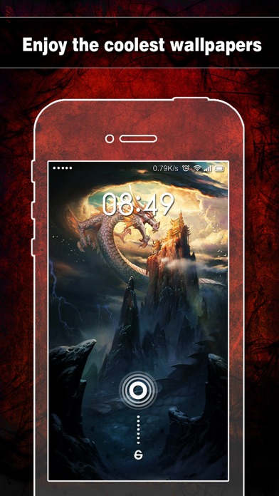 Screenshots of Dragon Wallpapers, Backgrounds & Themes - Home Screen Maker with Cool HD Dragon Pics for iOS 8 & iPhone 6 for iPhone