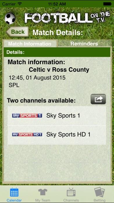 Football on the TV Скриншоты3