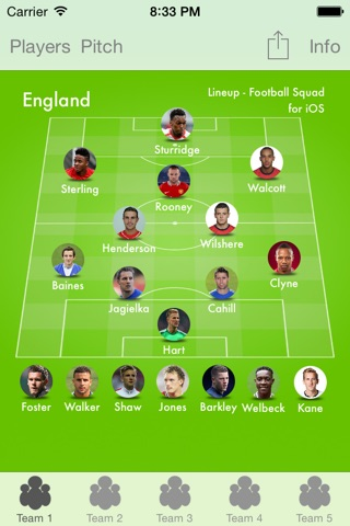 Lineup - Football Squad screenshot 1