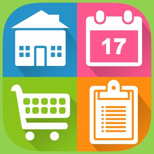 有条不紊:Organizer:ToDo+Cal+Grocery Lists+Alerts