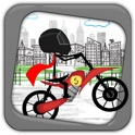 Stickman Line Biker Racer: Run and Fly Through the City icon