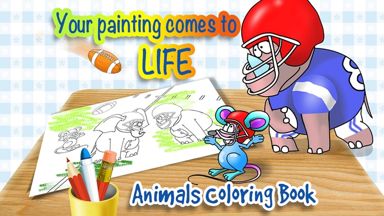 Animals Sports Coloring Book