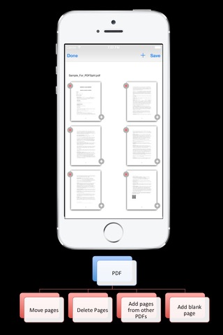PDF Pages : Add, Move and Remove PDF pages screenshot 1