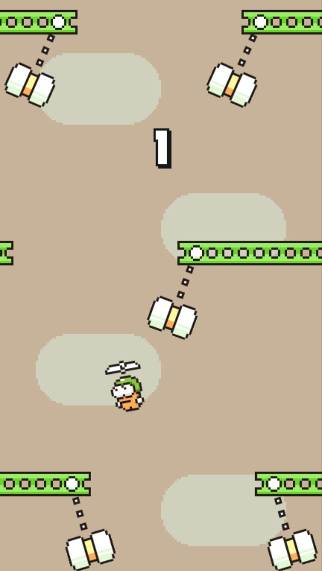 Screenshots of Swing Copters for iPhone