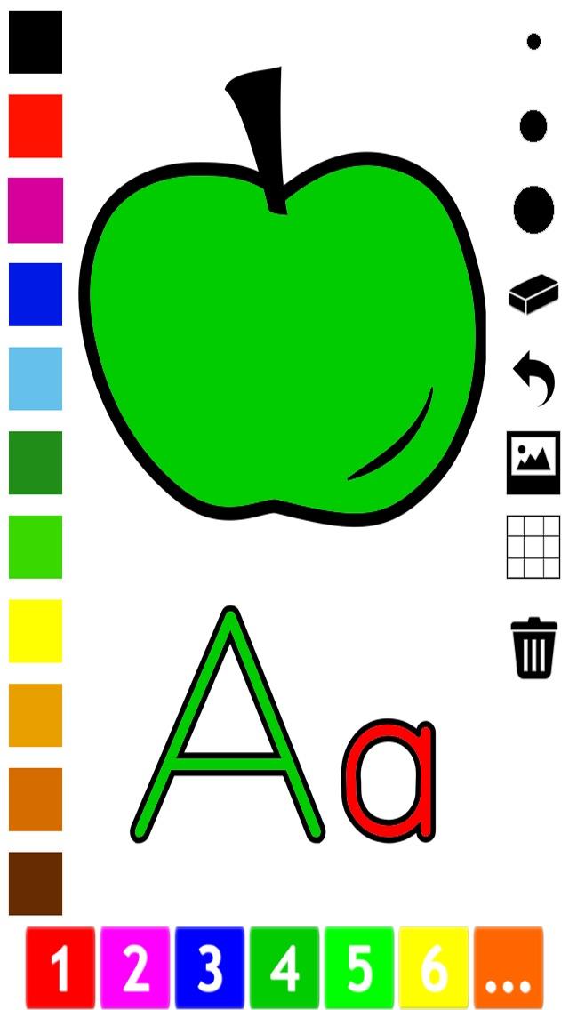 download Abc Livre à colorier pour les tout-petits: Apprendre à écrire et dessiner les lettres de l'alphabet en anglais avec de nombreuses photos pour l'école, préscolaire et à la maternelle apps 2