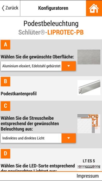 Screenshot von Schlüter-Systems4
