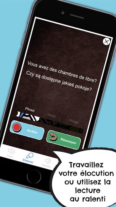 Polonais Dictionnaire - Guide de conversation en ligne gratuit avec cartes mémoire et voix d'un locuteur natifCapture d'écran de 5